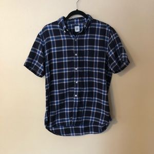 GAP Plaid SS Button Down Shirt Red Blue M